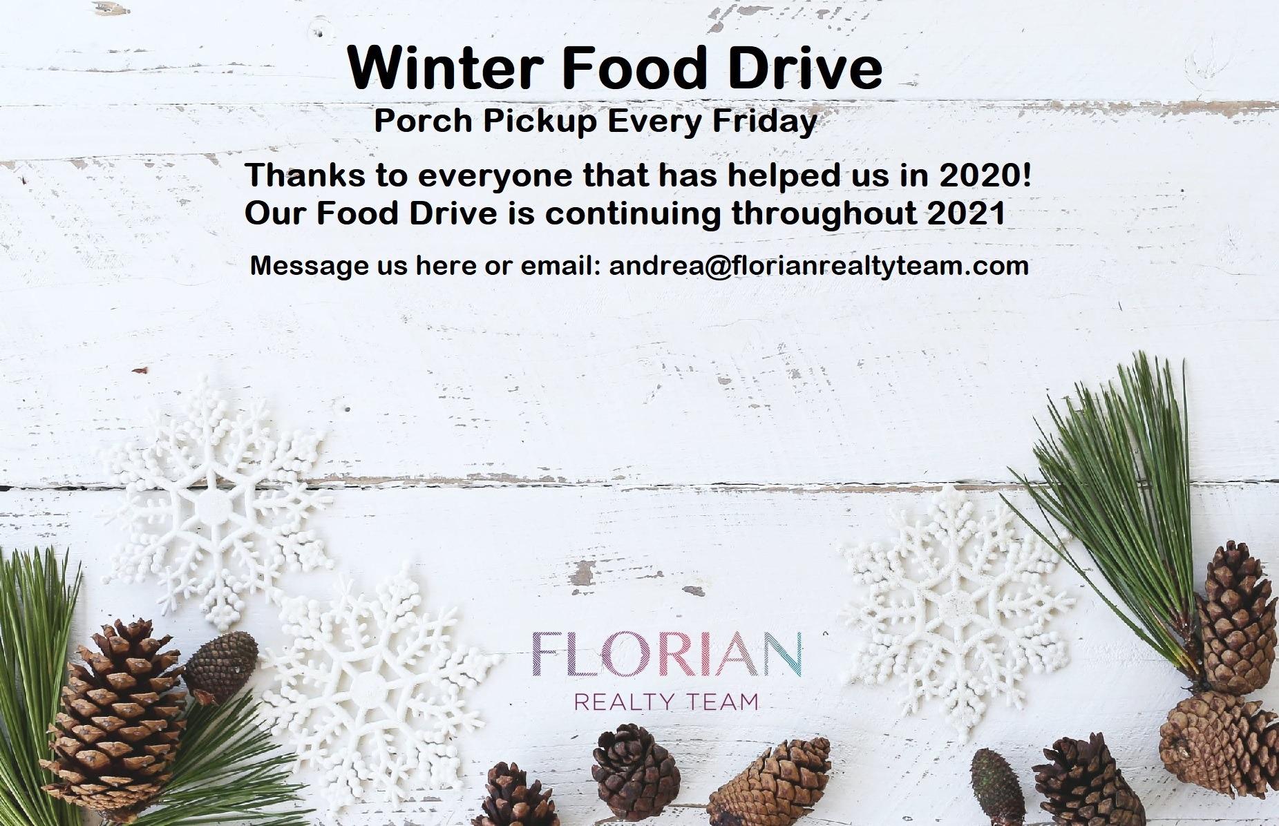 winter food drive info